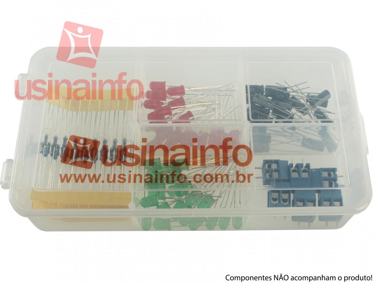 Caixa Organizadora P de 16x9x3,5cm com 05 divisórias