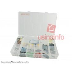 Caixa Organizadora GG de 37x27x6cm com 20 divisórias