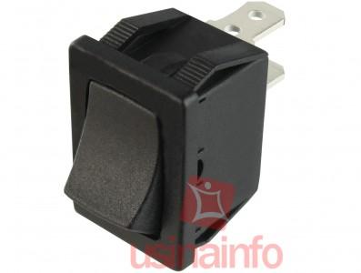 Interruptor Liga/Desliga tipo Gangorra 3A/250V - Preto