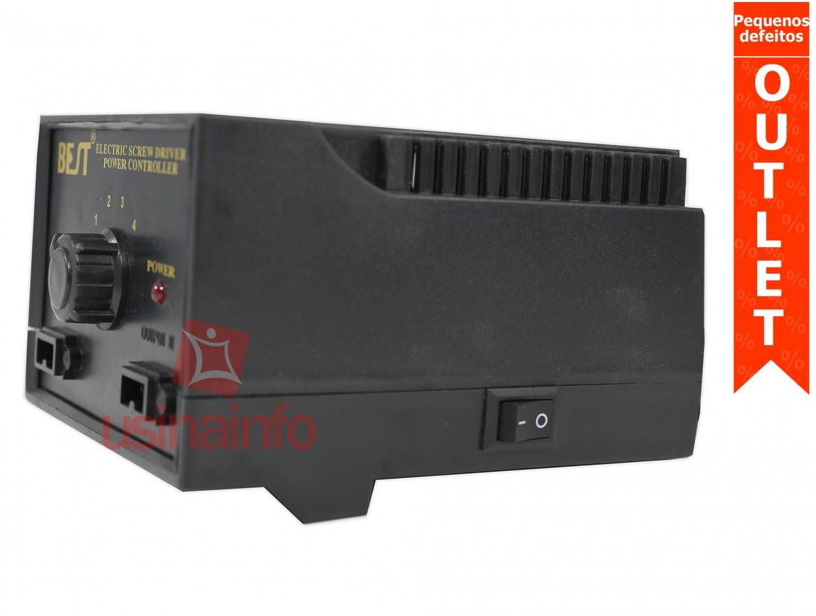 Fonte para Parafusadeira Universal - Regulável com Saída Dupla - 20V a 35V (Pequenos defeitos)