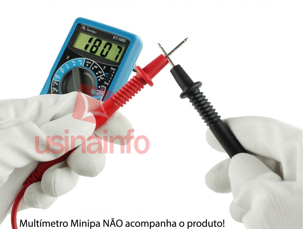 Ponta de Prova para Multímetro com Conector Banana 90° - Minipa 1000V CATIII 15A
