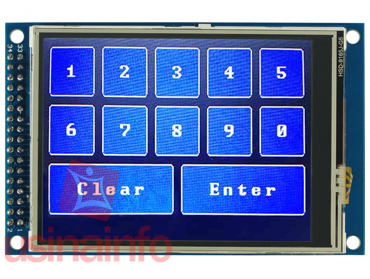 "TFT LCD 3.2"" Shield Arduino Touch Screen com Slot SD"