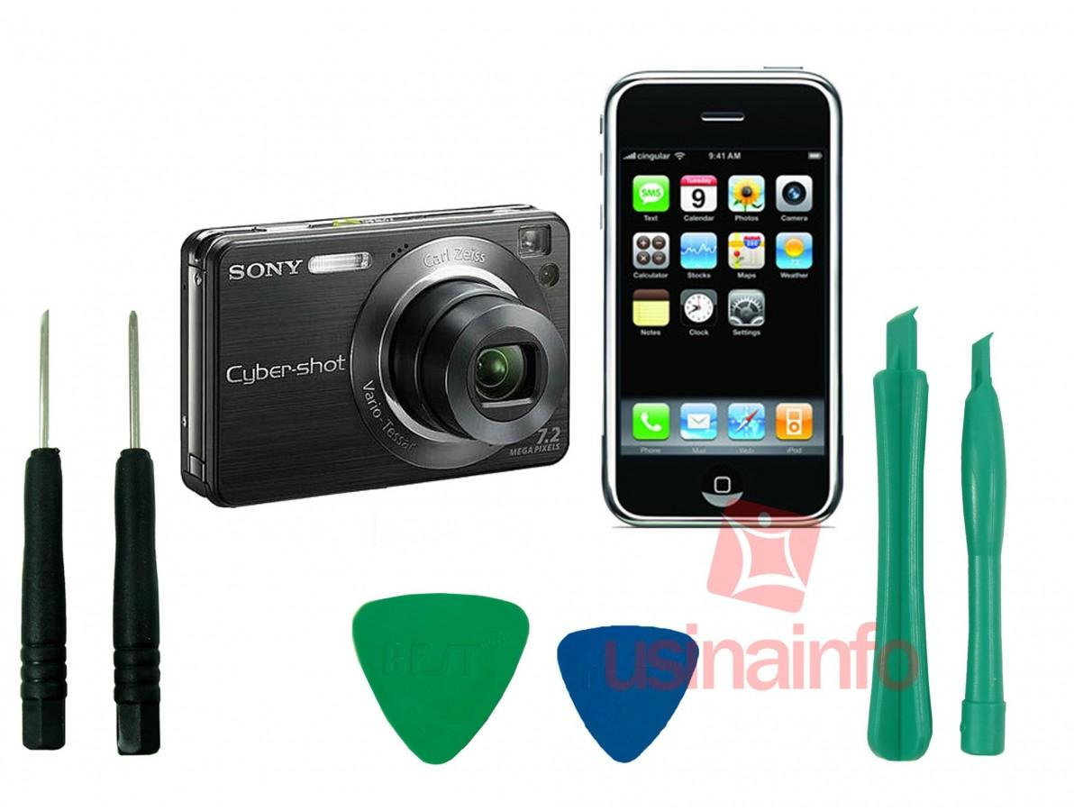 Jogo de chaves ideal para abertura de Celulares, iPhone, iPod e Câmeras Digitais