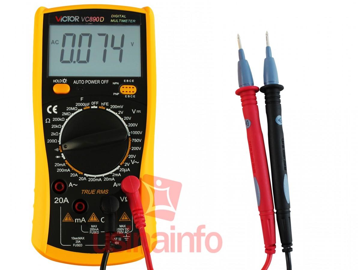 Multímetro Capacímetro Digital Profissional - Victor VC890D