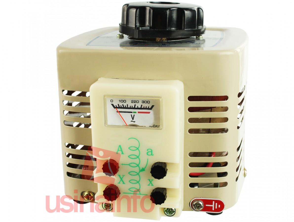 Variac - Regulador de Tensão 0-250VAC 1KVA