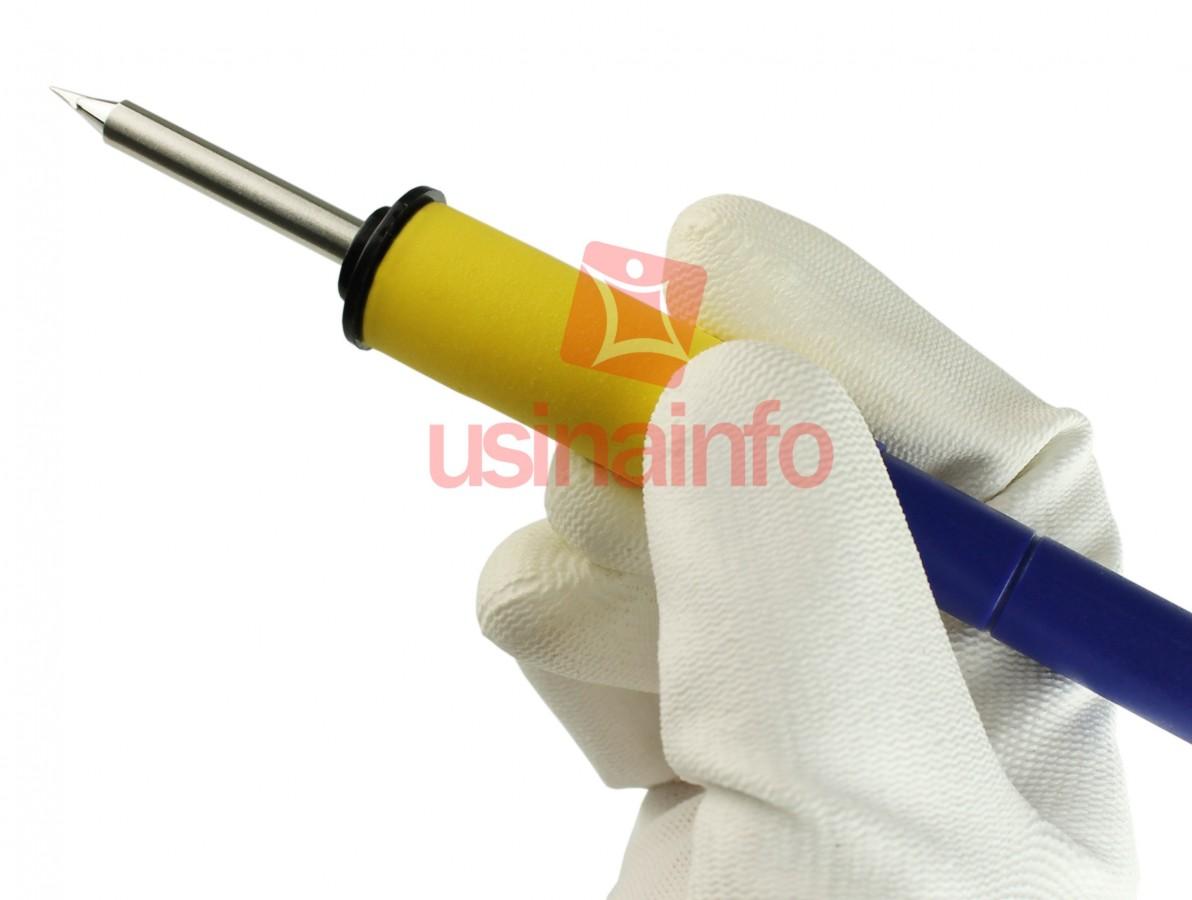 Ferro de Solda para Estação de Solda - Conector macho 8 pinos - Azul e Amarelo