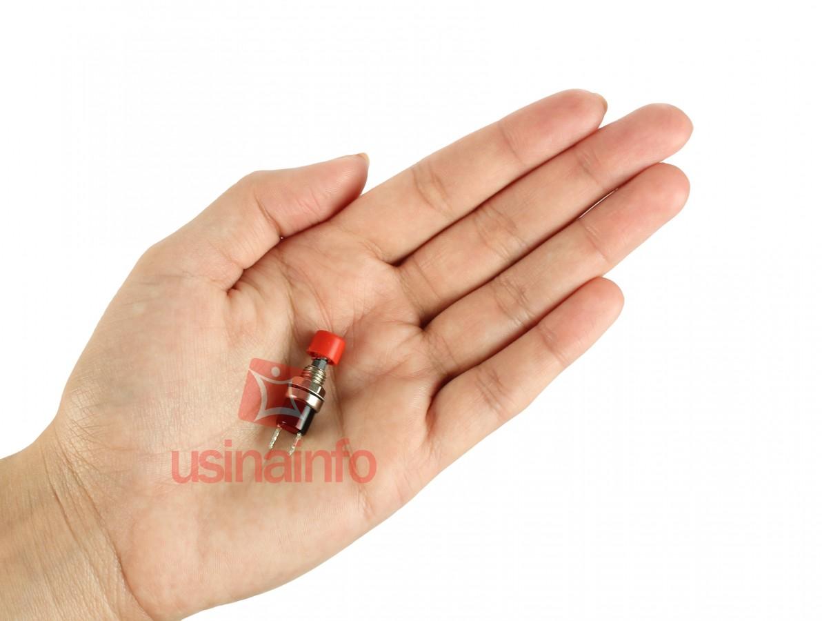 Chave Push Button PS101R Vermelha NA 2A - Fusibras