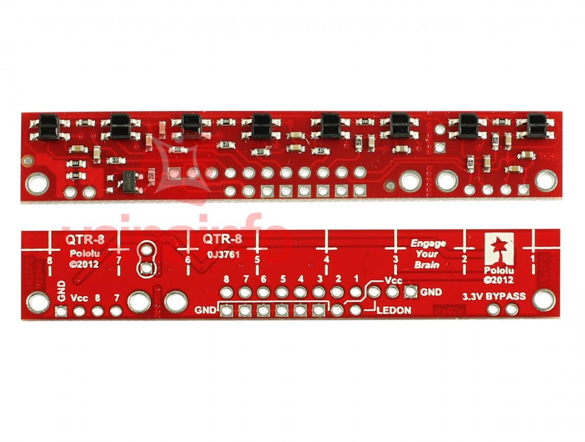 Sensor de Refletância Digital com 8 Sensores Infravermelho - 8RC