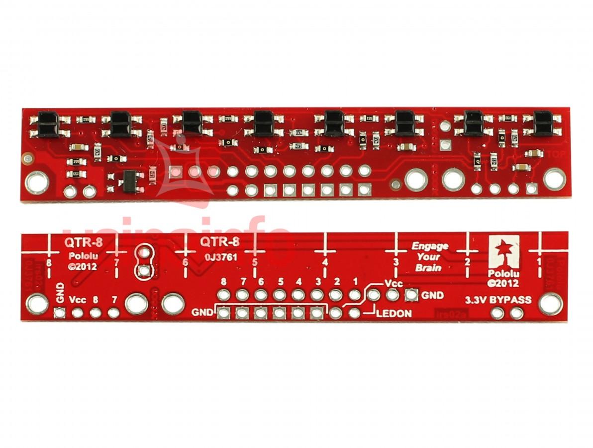 Sensor de Refletância Analógico com 8 Sensores Infravermelho - QTR-8A