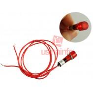 Sinaleiro Olho de Boi 250V para Painéis de Indicação - Vermelho