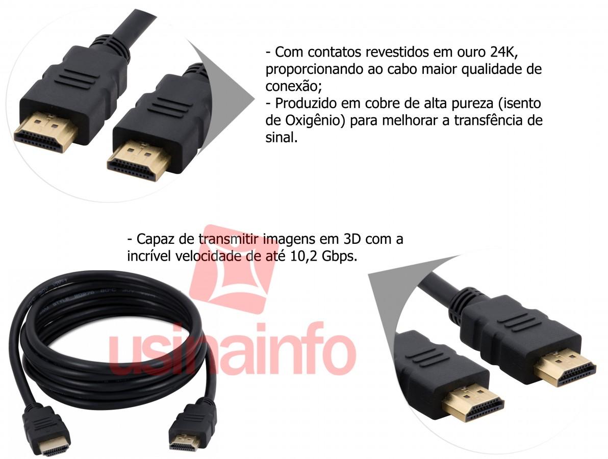Cabo HDMI 1.4 3D 1,8m