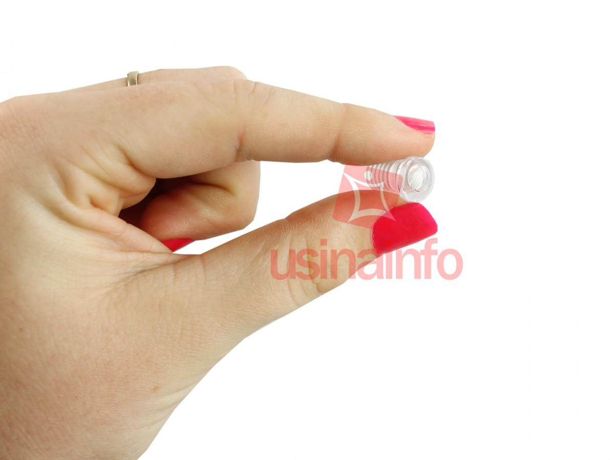 Suporte para LED 5mm Transparente com Rosca - Kit com 5 Unidades