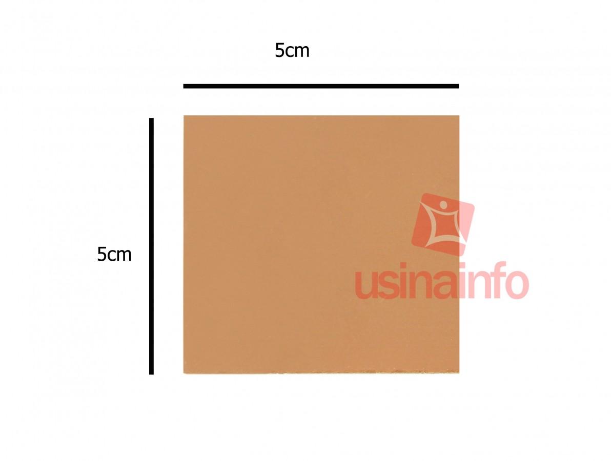 Placa de Fibra de Vidro Cobreada Simples 5x5 cm para Circuito Impresso