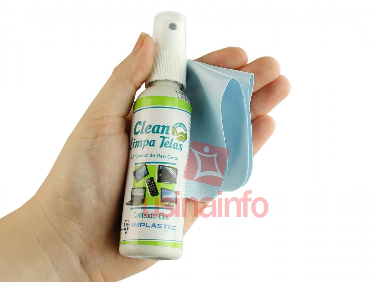 Limpa Telas 60ml + Flanela Antirrisco para Limpeza de Telas LCD, LED e Plasma