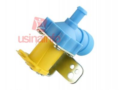 Válvula Solenoide para Água 127V ou 220V 90° (¾ x mang. ⅜) - Com suporte