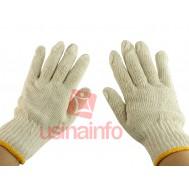 Luva Tricotada Branca para Trabalhos Diversos - Certificado MTE