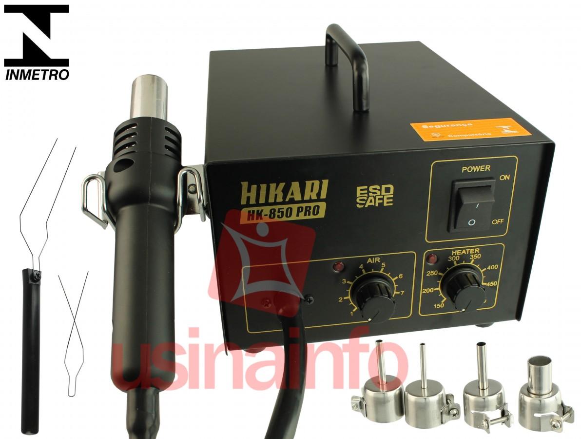 Estação de Retrabalho com Ar Quente ESD SAFE - HK 850 PRO