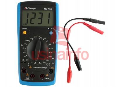 Medidor LCR Digial para Indutores, Capacitores e Resistores - Minipa MC-155