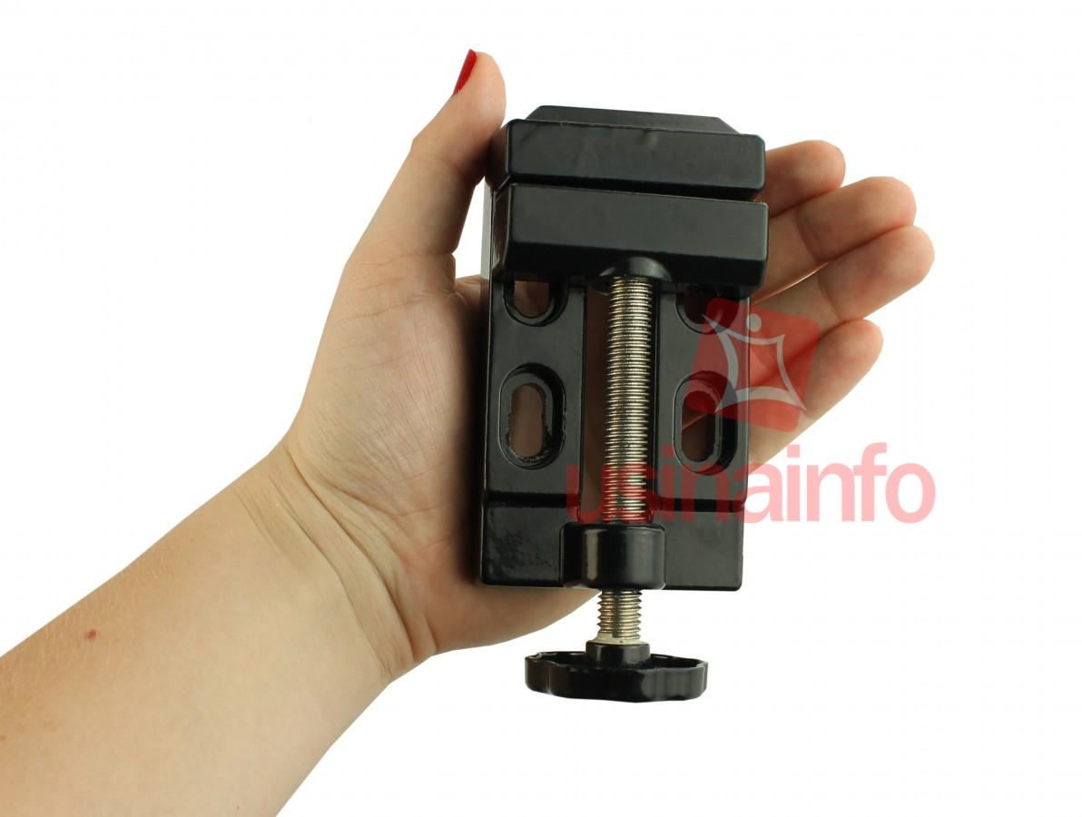 Mini Morsa de Bancada 55mm em Alumínio Fundido para Micro Retífica