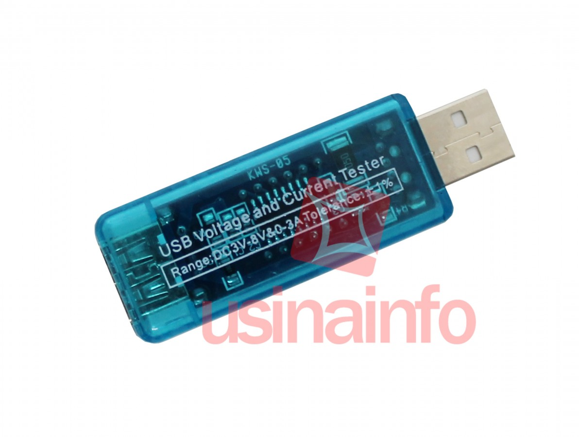 Testador de Portas USB Portátil / Amperímetro e Voltímetro USB