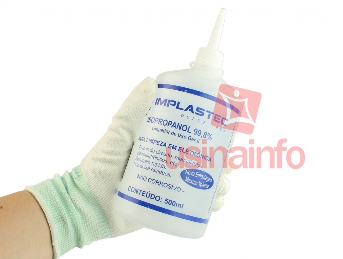 Álcool Isopropílico Líquido 99,8% - Implastec 500ml