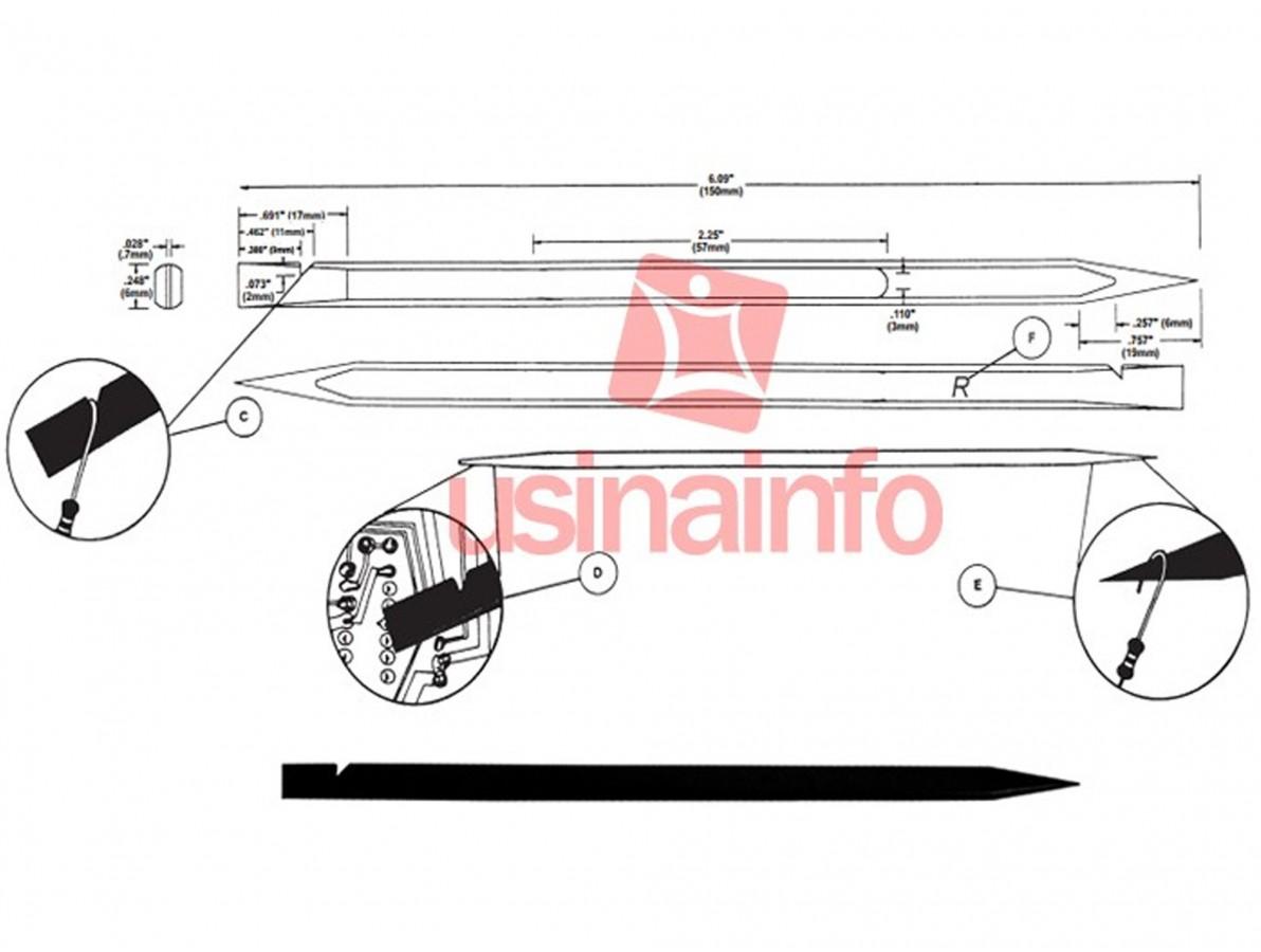 Spudger / Chave Plástica para Abertura e Manutenção de Equipamentos