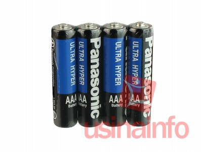 Pilha AAA 1,5V Ultra Hyper Panasonic - Kit com 4 unidades