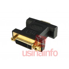 Adaptador DVI para VGA (DVI Fêmea 24 + 5 pinos X VGA Macho 15 pinos)