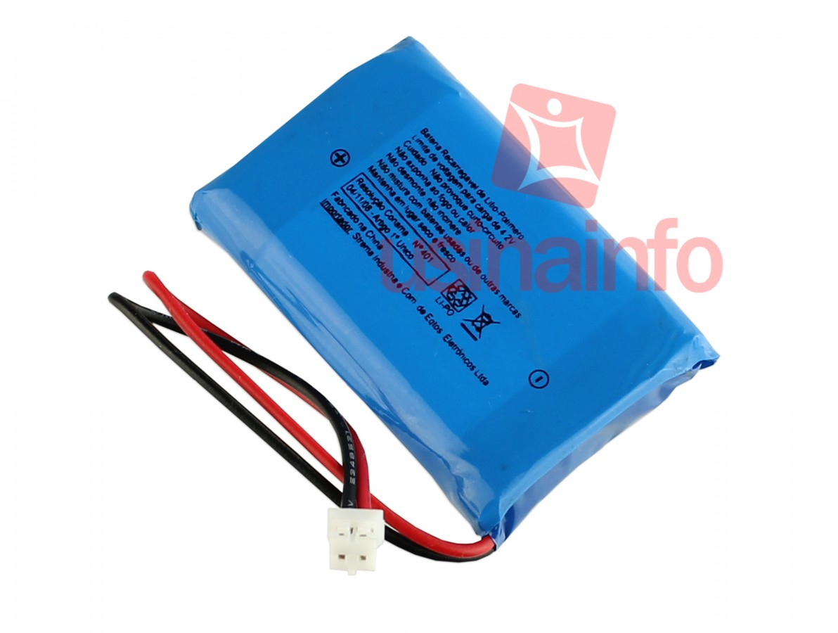 Bateria Li-Po Recarregável - 3,7V 1800mAh