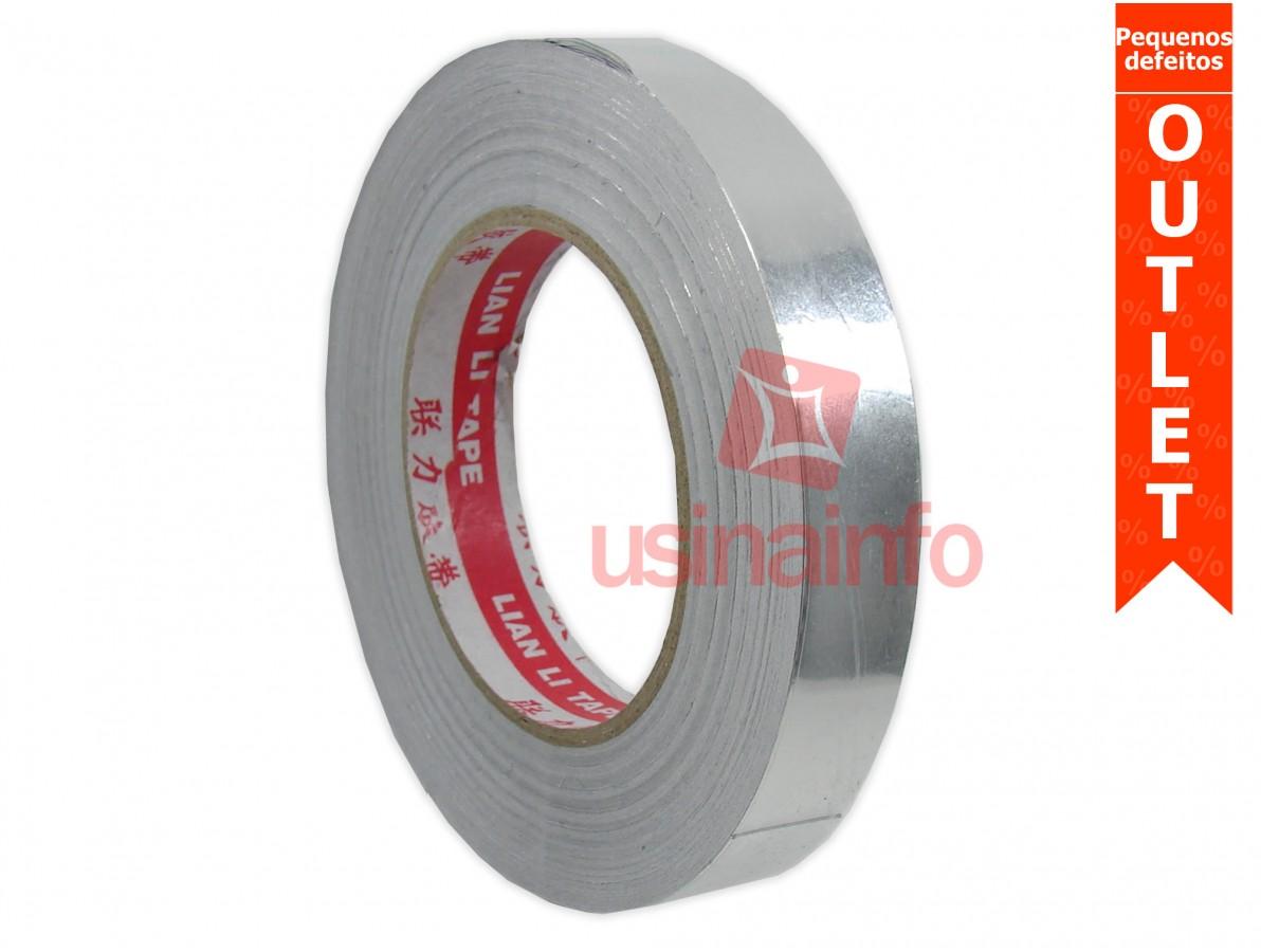 Fita de Alumínio Adesiva para Retrabalho em PCI's - 20mm x 50m (Pequenos defeitos)