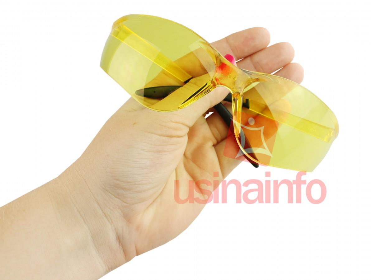 Óculos de Proteção e Segurança Amarelo Contra Luz Ultravioleta - Modelo Koala - Kalipso