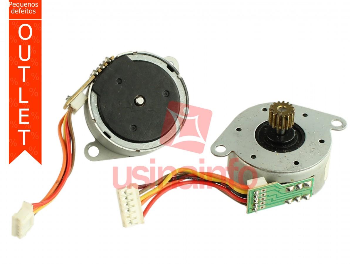 Motor de Passo S35S5-6002/7 5 Fios - Kit com 2 Unidades