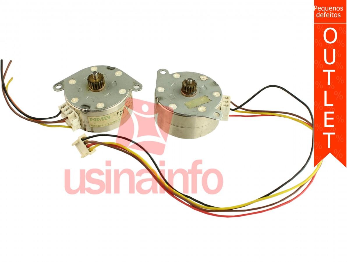 Motor de Passo NMB PM42L-048-SYD1 4 Fios - Kit com 2 Unidades