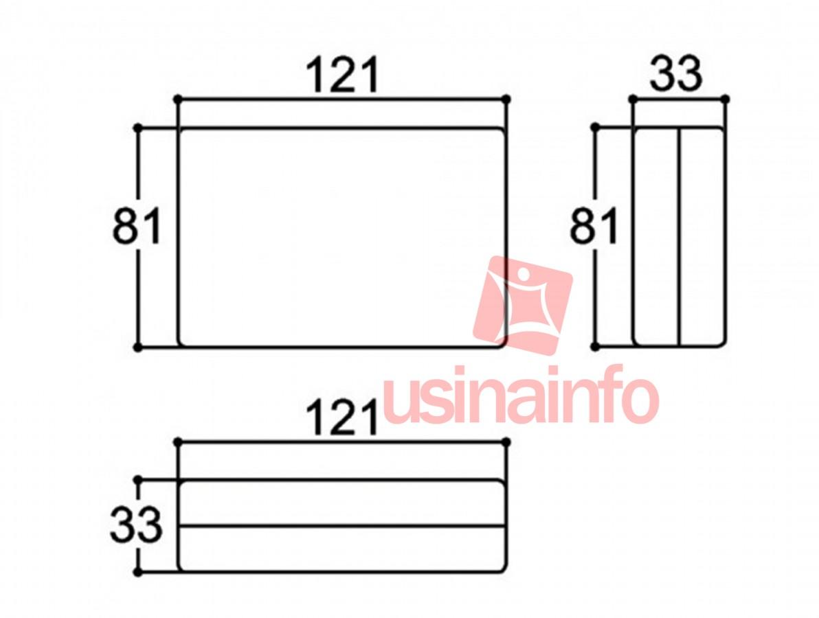 Caixa Patola / Case para Montagem 33 x 81 x 121 mm - PB-603