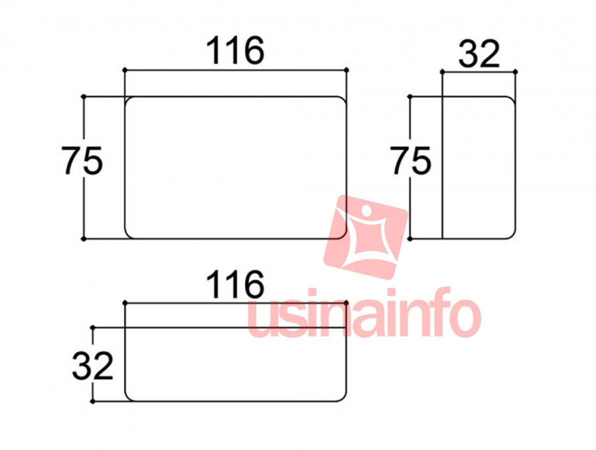 Caixa Patola / Case para Montagem 32 x 75 x 116 mm - PB-108