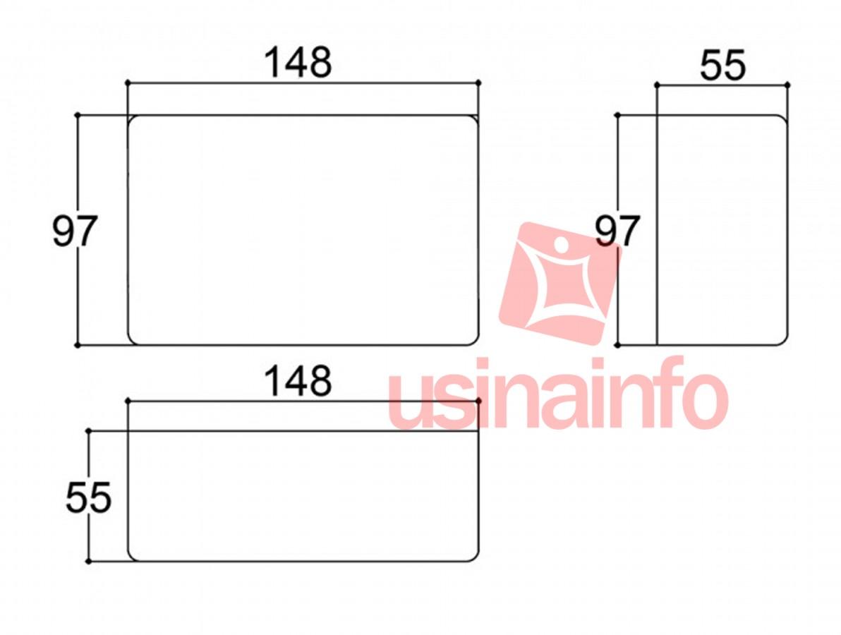 Caixa Patola / Case para Montagem 55 x 97 x 148 mm - PB-114