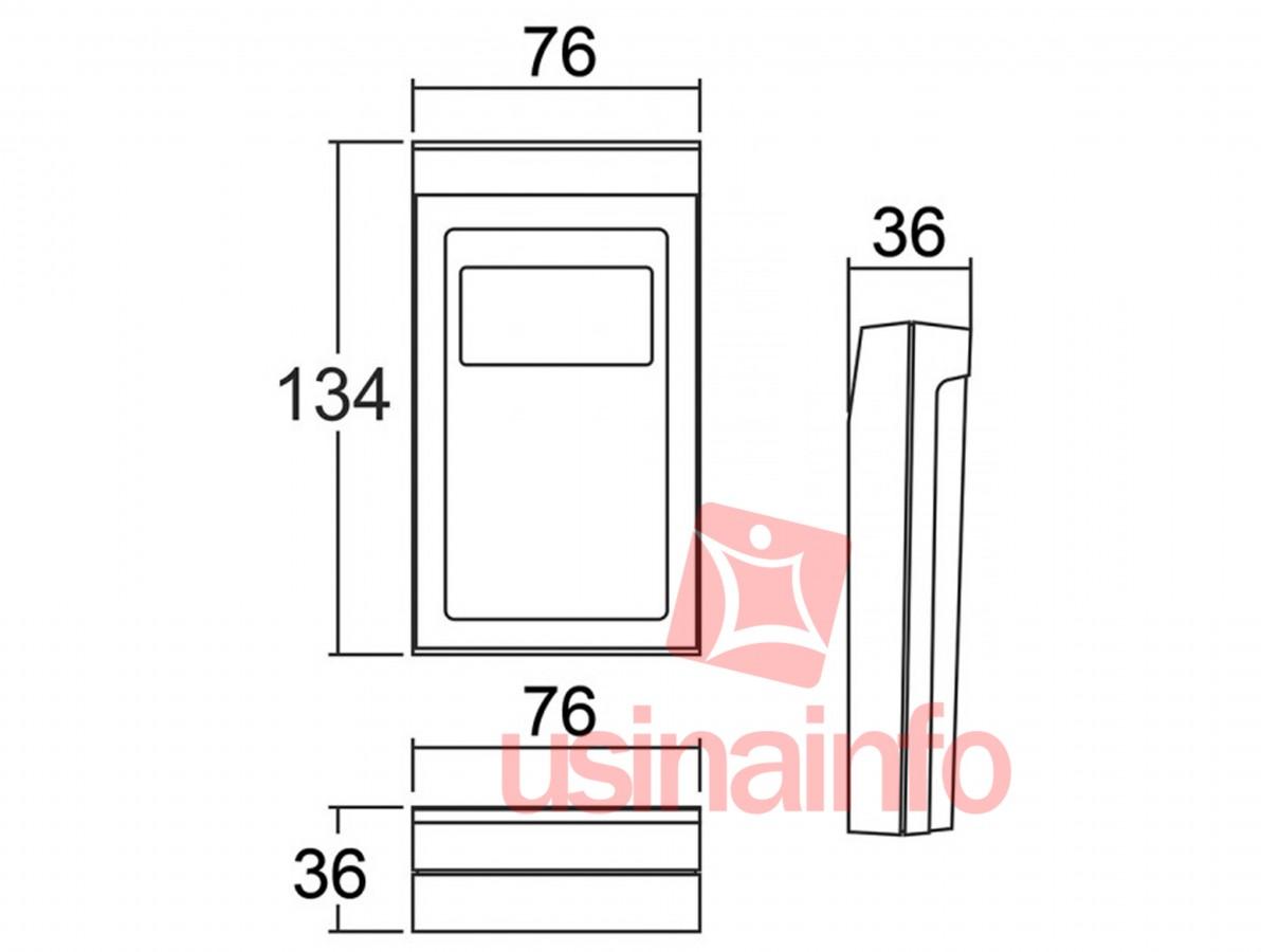 Caixa Patola / Case para Montagem 36 x 76 x 134 mm - CP-012 PF