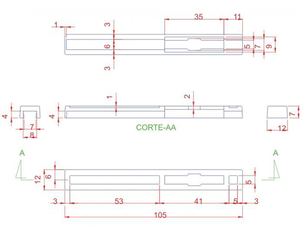 Caixa Patola / Case para Montagem 70 x 139 x 155 mm - PB-211