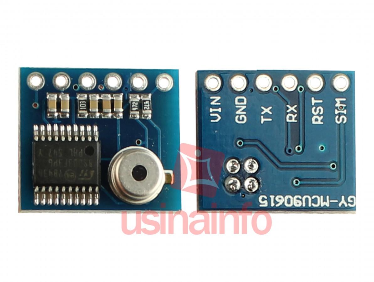 Sensor de Temperatura Infravermelho IR MLX90615 para Medições Sem Contato