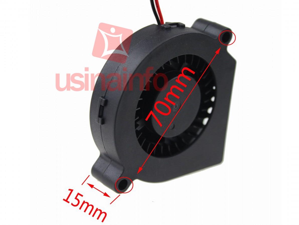 Cooler para Notebook / Exaustor Centrífugo para Projetos 60x60mm / Micro Ventilador 12V