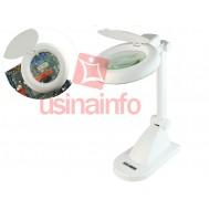 Lupa de Bancada com iluminação LED e zoom de 3x 12x - HL-200 LED (Bivolt)