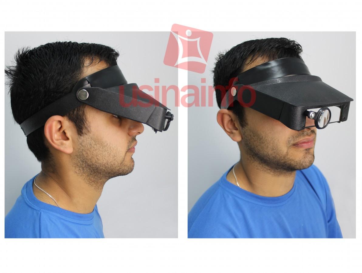 Lupa de Cabeça SLC-1008 - Zoom 1.8X 2.3X 3.7X 4.8X