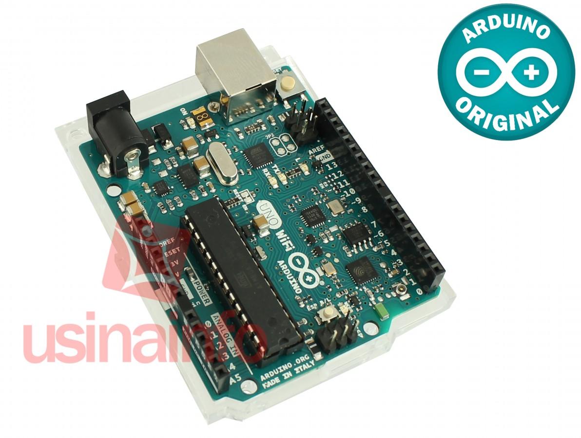 Arduino Uno Wifi R3 ESP8266 + Base Acrílica Oficial - ORIGINAL ITÁLIA