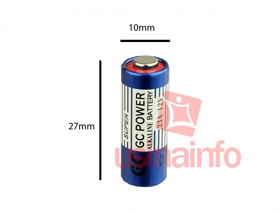 Pilha 12V 23A Alcalina / Bateria A23 - GC Power
