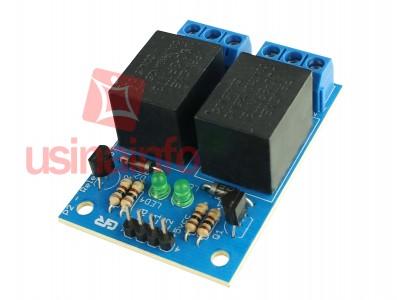 Módulo Relé 5V 10A 2 Canais para Arduino e Raspberry PI - P2