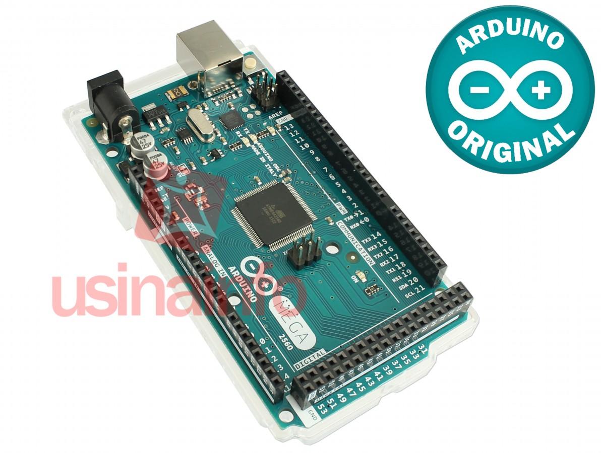Arduino MEGA 2560 + Base Acrílica Oficial - ORIGINAL ITÁLIA
