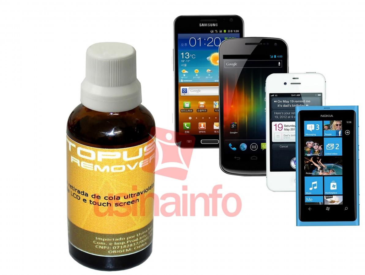 Removedor de Cola UV (Ultravioleta) de Touch Screen e Tela LCD - Octopus Remover 30mL