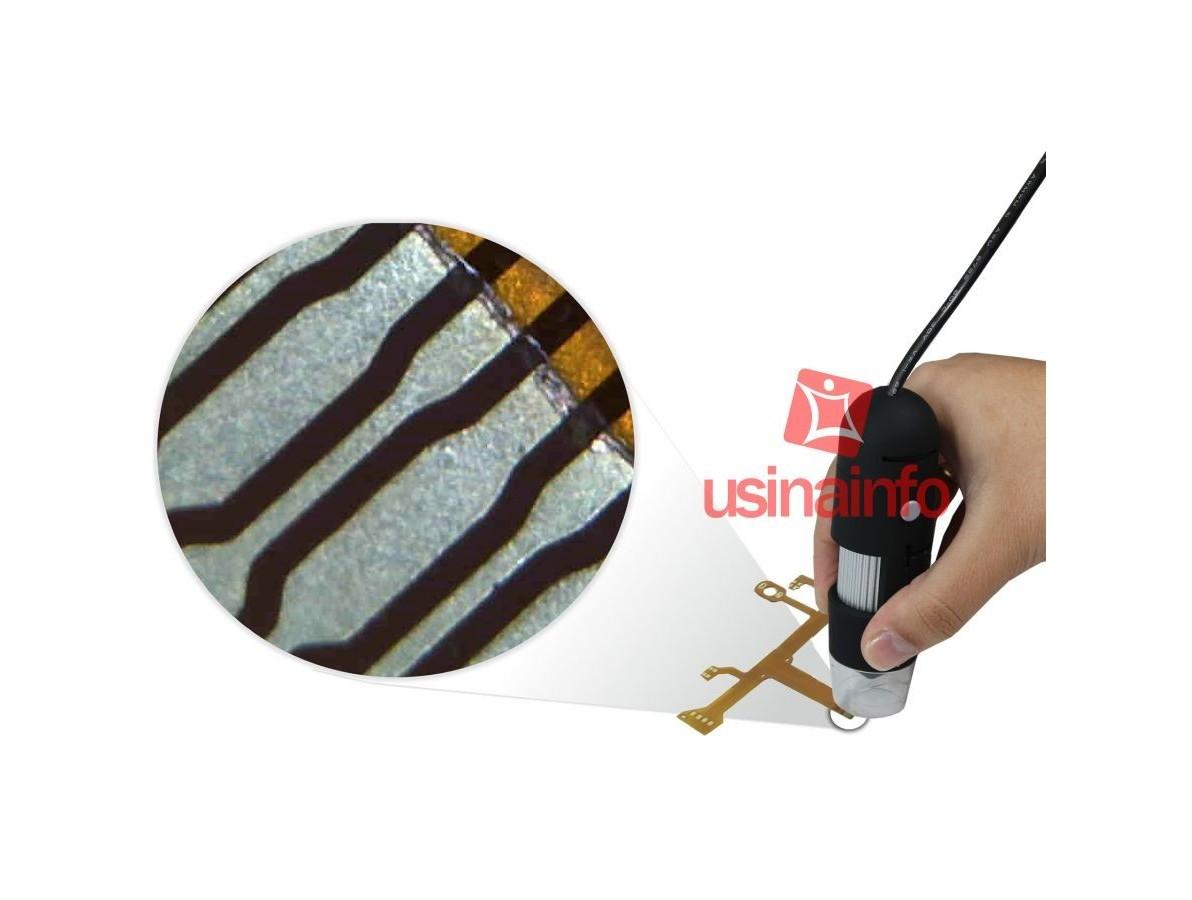 Microscópio Digital USB 2.0 Mega Pixels com Zoom de 220X - MV220