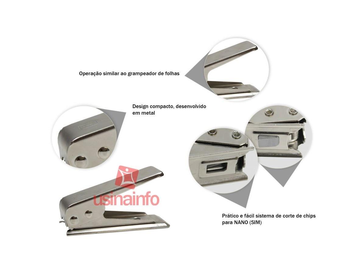 Cortador de chip NANO (SIM) para Apple, Samsung e Motorola com adaptadores - PH5 (DESCONTINUADO)