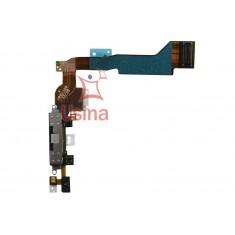Flat Flex Conector de Carga e Dados + Microfone Iphone 4 - Mod. A1349 (Preto) - Original